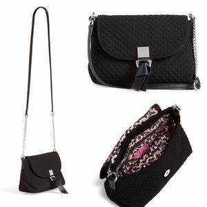 VERA BRADLEY Carson RFID Mini Crossbody  Black